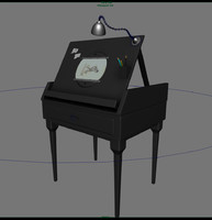 3d model animation disc desk