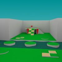 3d model turtle arena