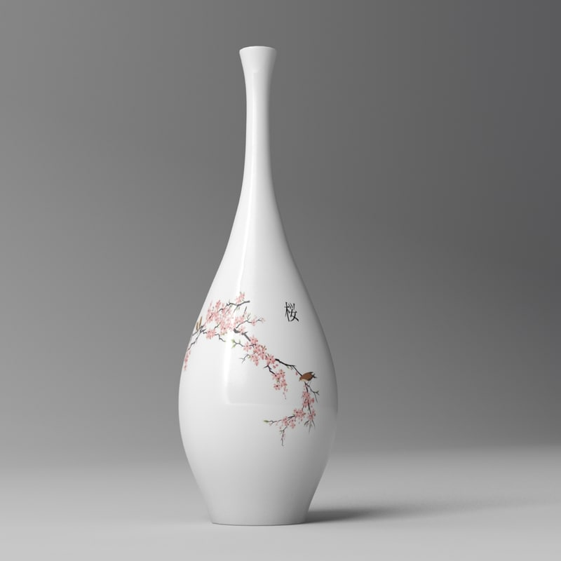 3d model japanese bottle