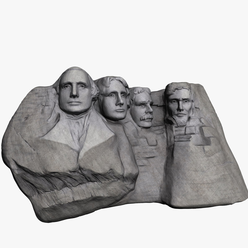 mount rushmore 3d model