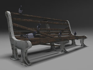 free old bench 3d model