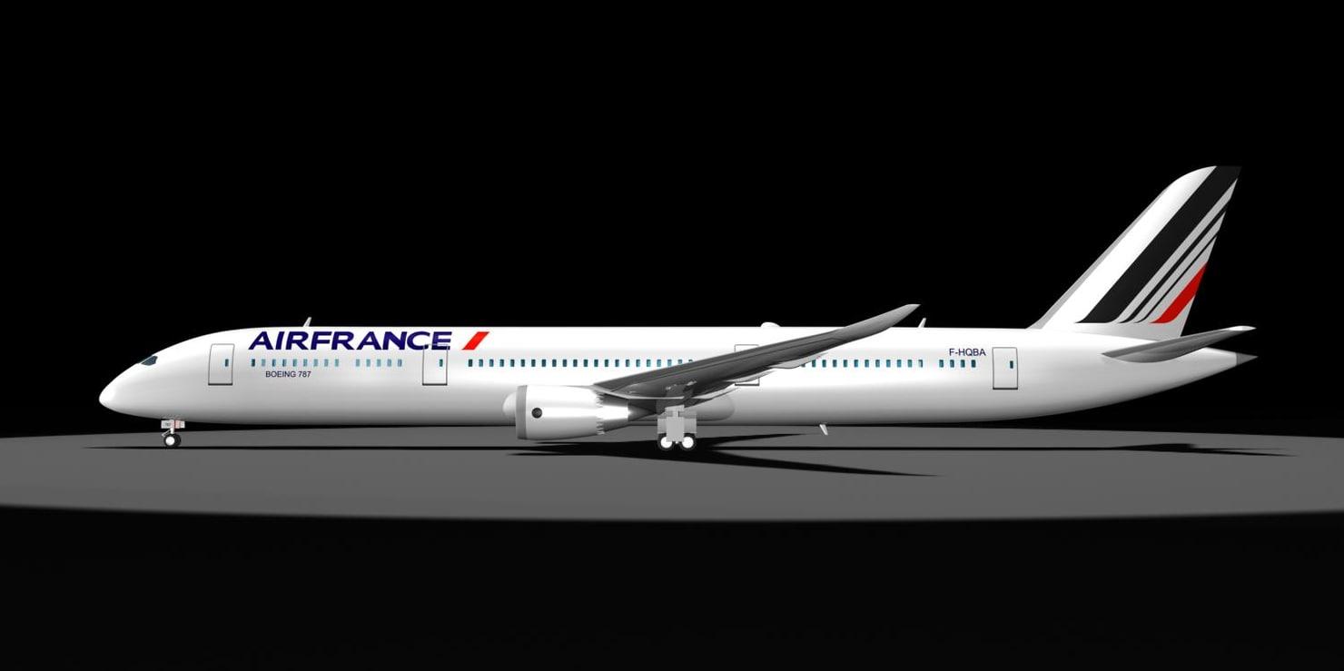 3d model air france 787-9 dreamliner