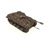 panther tank panzer 3d c4d