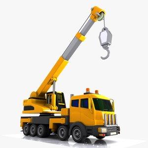 3ds cartoon mobile crane