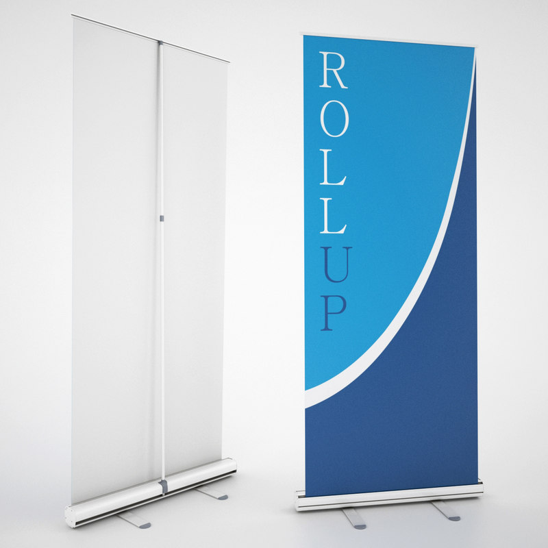 3d banner stands