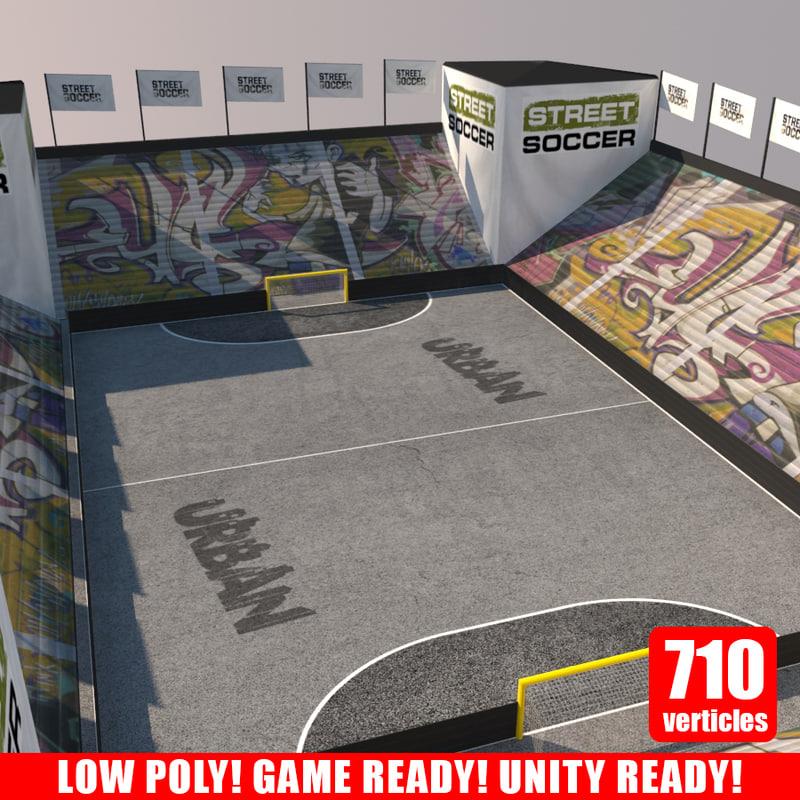 3d street soccer court 1 model