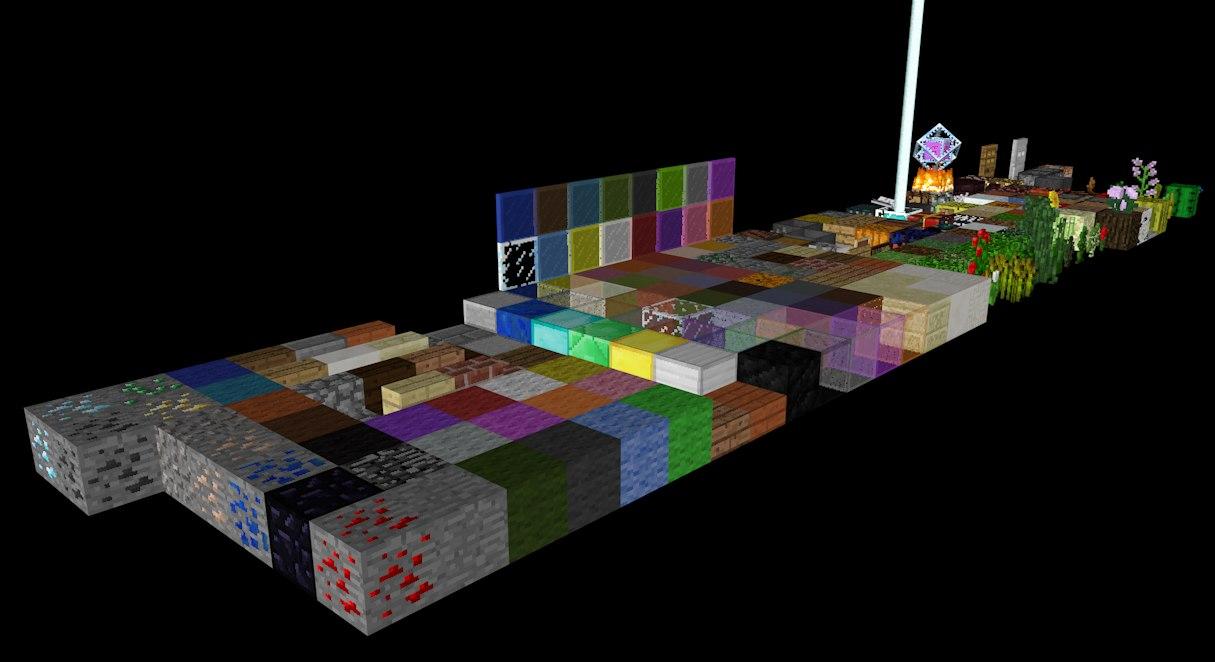 minecraft pack 3d model