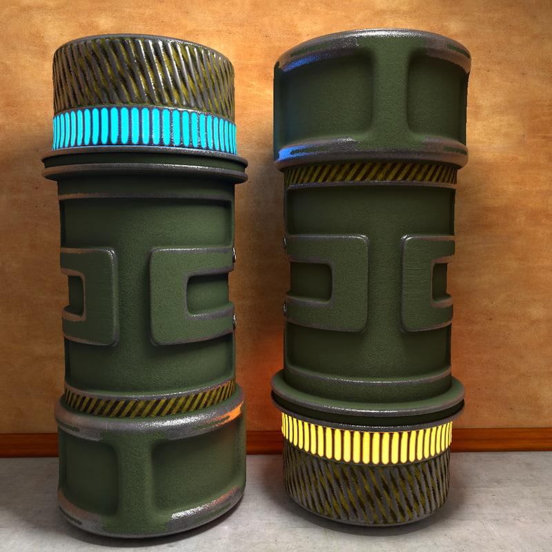3d military battery model