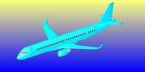3dsmax embraer commercial aircraft solid