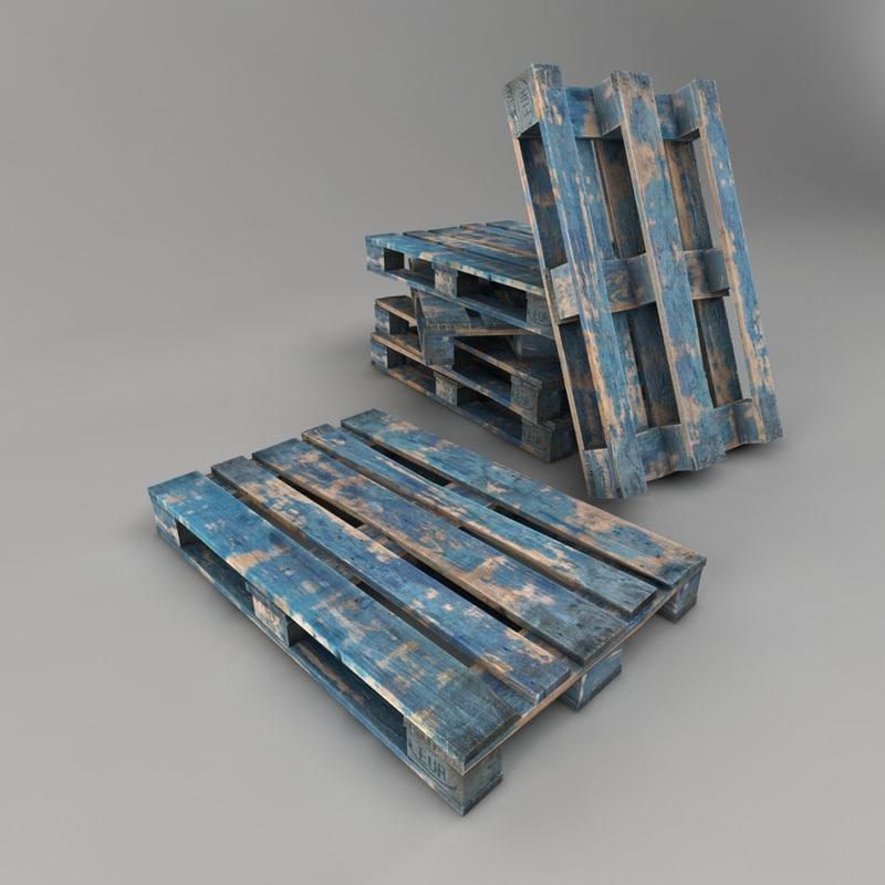 3d max blue pallet