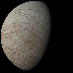 3d model of photorealistic europa