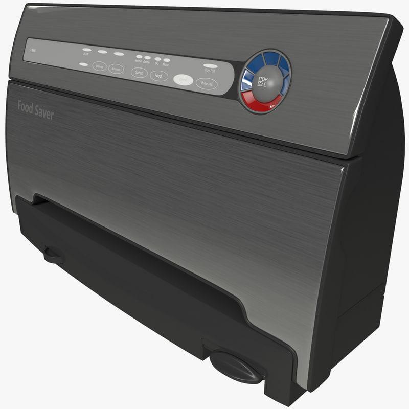 3d model foodsaver vacuum sealer