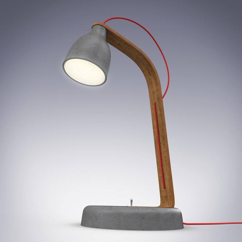 3d model desk lamp