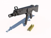 3d model of mp5 submachine gun