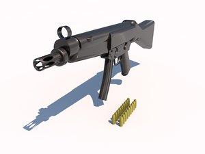 3d model of mp5 submachine gun