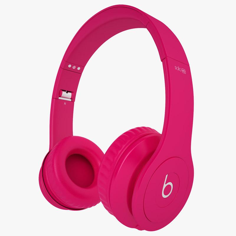 headphones monster beats 3d model