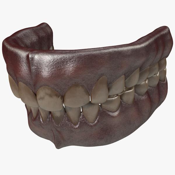 human old teeth 3d model