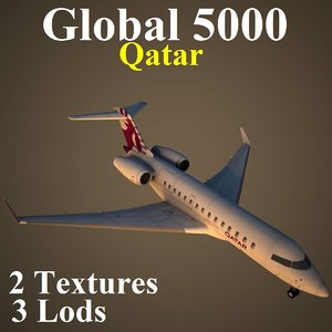 3d bombardier global qtr model