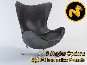 egg chair jacobsen 3d model