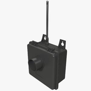 3d model murs alert transmitter button