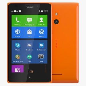 3d nokia xl orange model