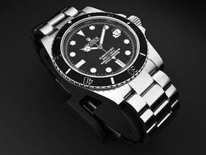 luxury rolex submariner 116010 3d model