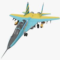 russian fighter aircraft mig-29 3d model