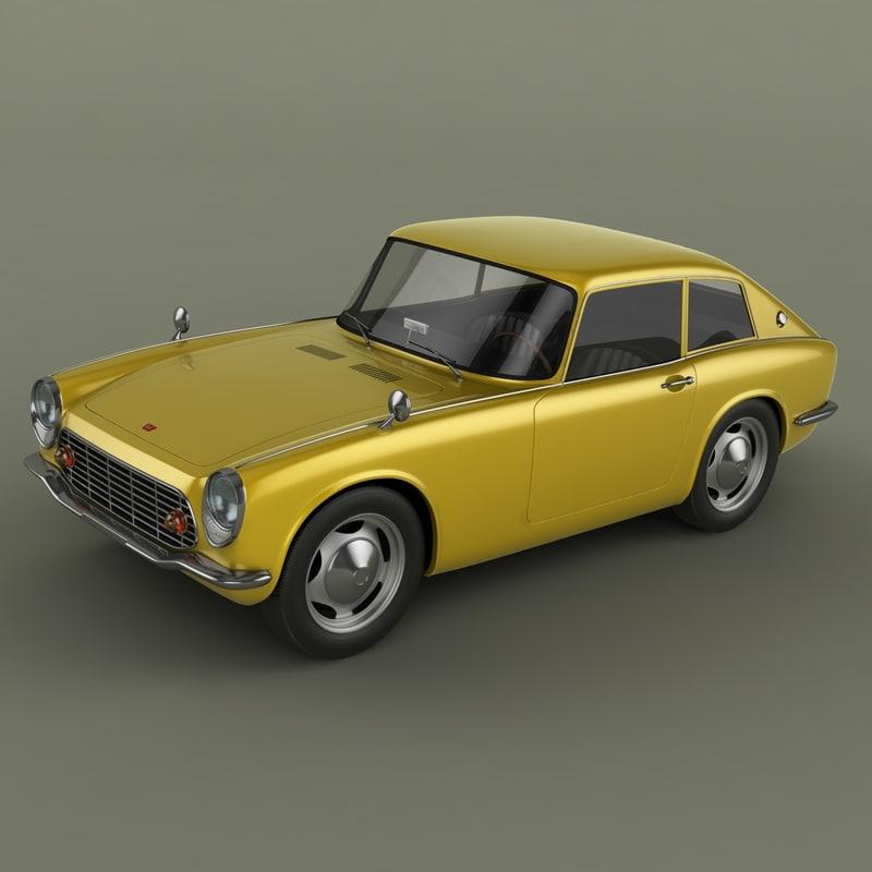 honda s600 coupe 3d model