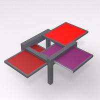 sculpture jeux par3 coffee table 3d model
