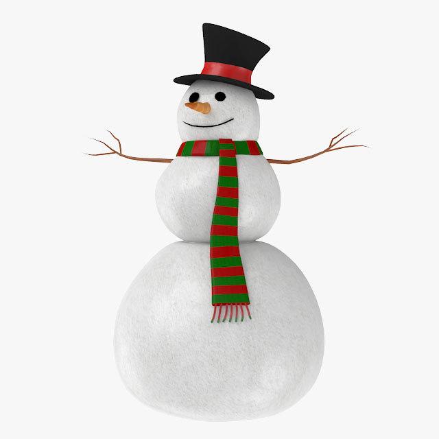 3d snowman snow
