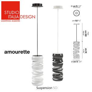 lamp amourette studio italia 3d 3ds