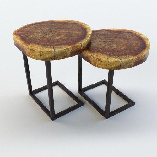 3d table walnut slab