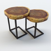 WALNUT SLAB SIDE TABLES