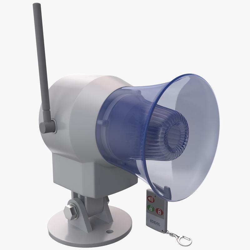 3d wireless siren remote control model