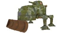 dieselpunk tank 3d obj