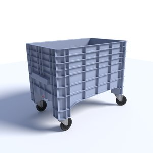 wheeled container tank fbx
