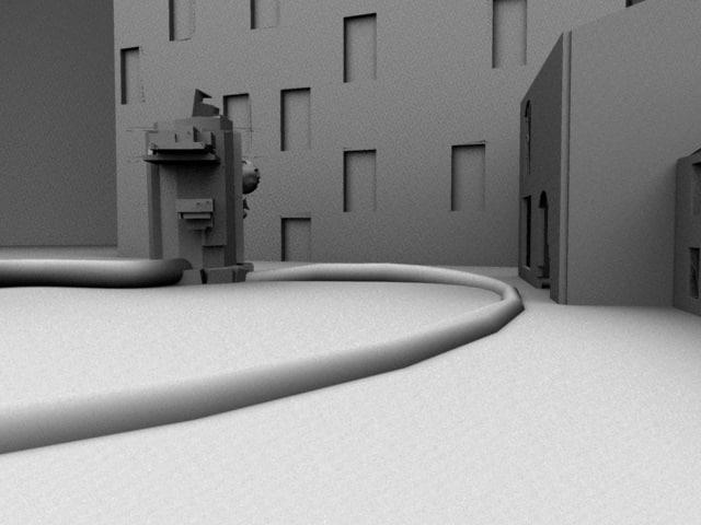 exterior factory 3d model