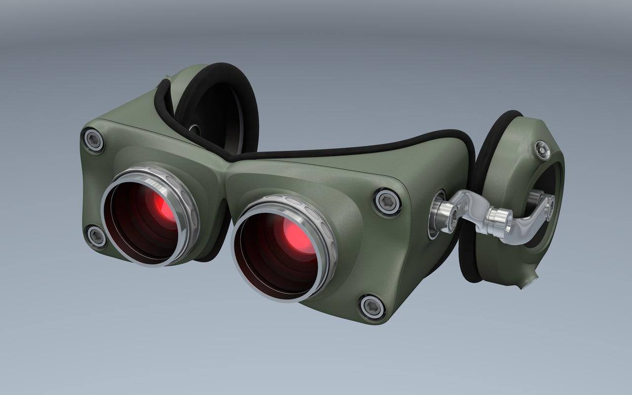 night vision goggles 3d c4d