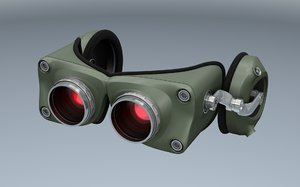 night vision goggles 3d c4d