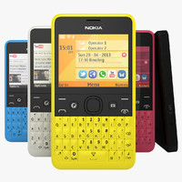 3d model nokia asha 210 available