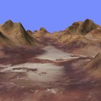 terrain alm-02 3d model