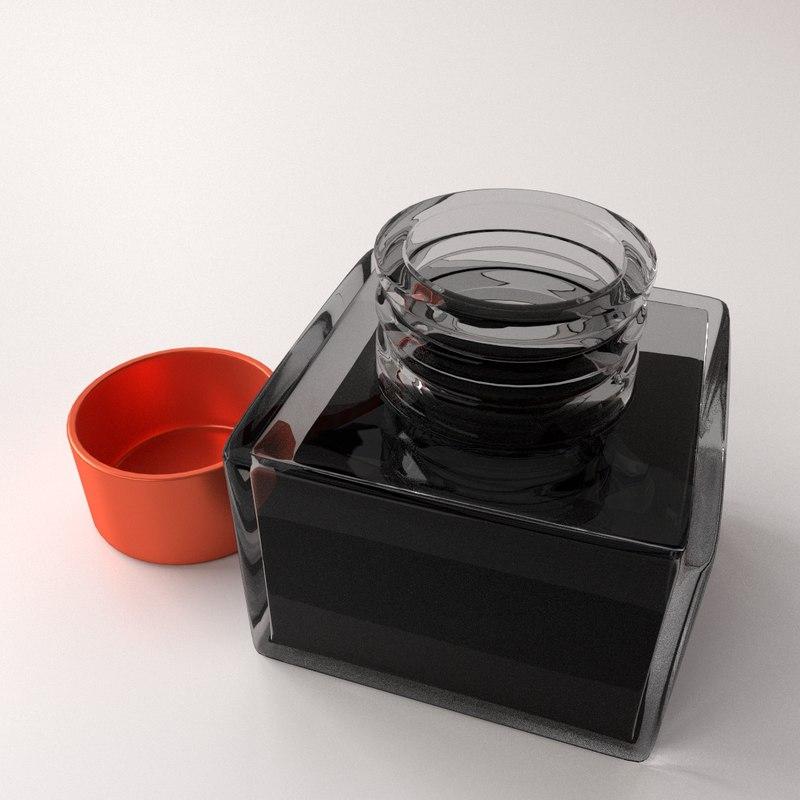 3d model ink bottle