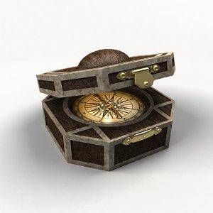 3d model compass pirates