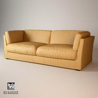 3d meridiani quinn sofa model