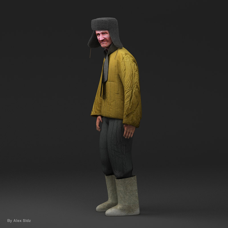 old russian man 3d max
