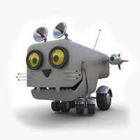 3d model toy robot cat