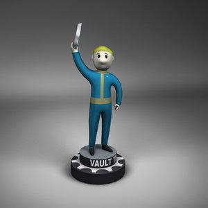 3d model vault boy