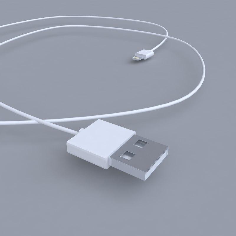 3d model of apple lightning port