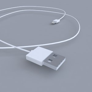 3d model of apple lightning port