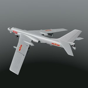 xian h-6 bomber chinese 3d 3ds